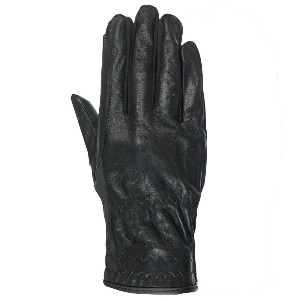 Black leather gloves brisbane - Horze Black Leather Gloves