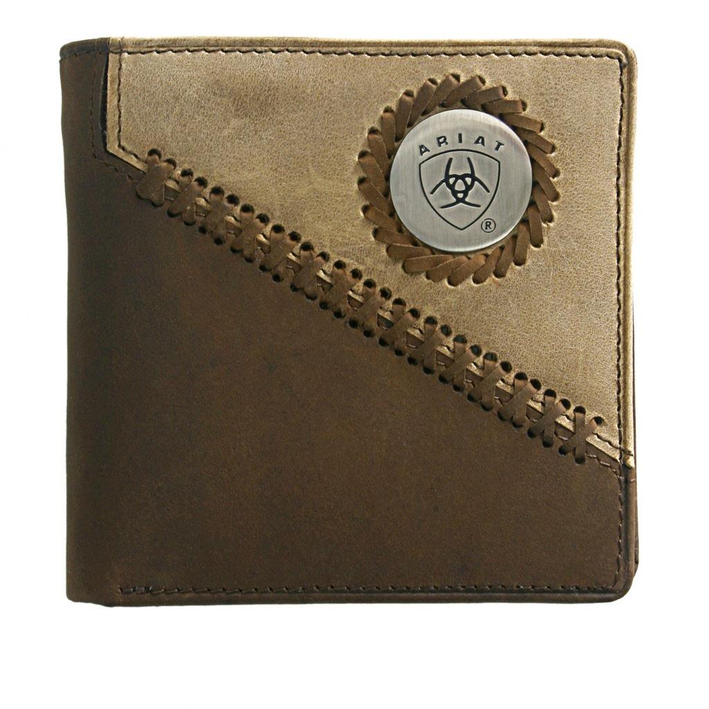 7fe4d24c3923e Ariat Bi Fold Wallet Mens Leather Wallets Western World Saddlery Qld